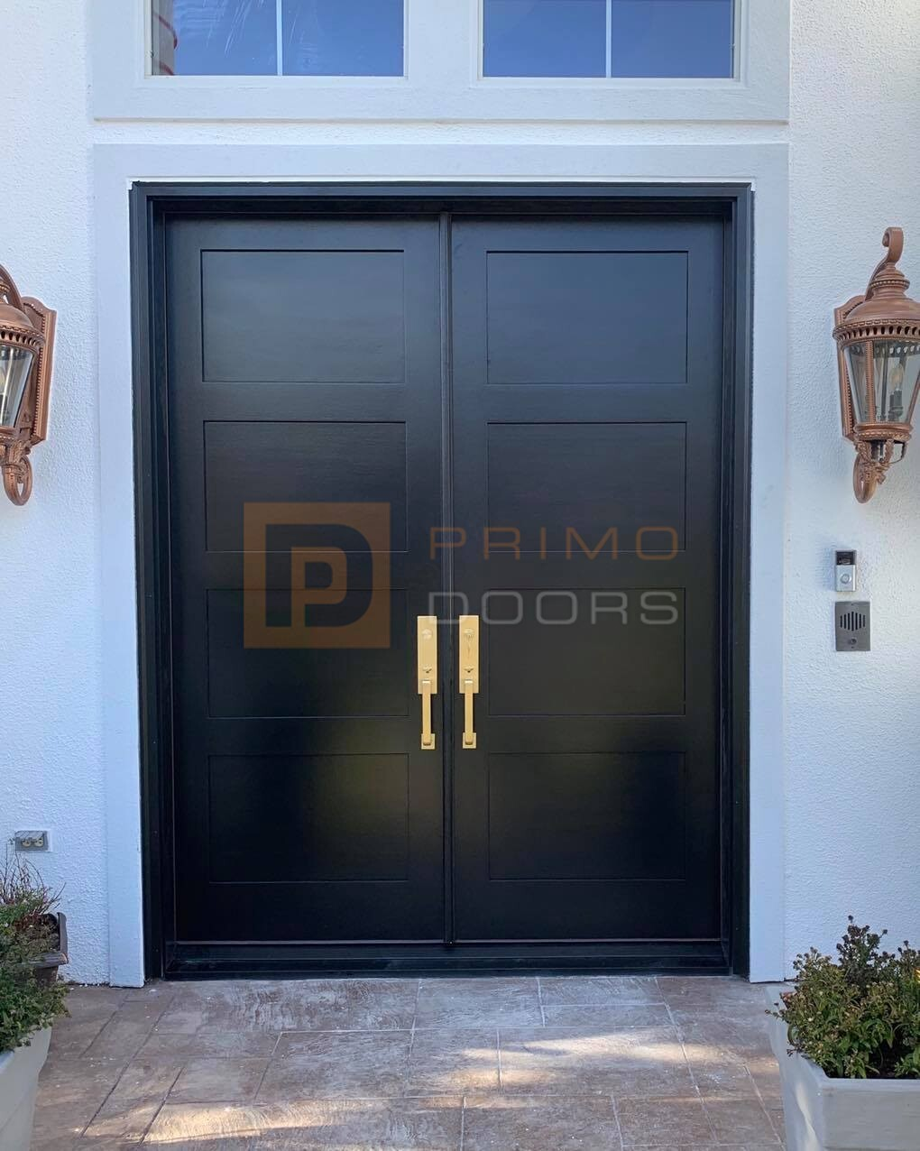 Double Wood Front Doors with Glass - Home Front Entry Doors