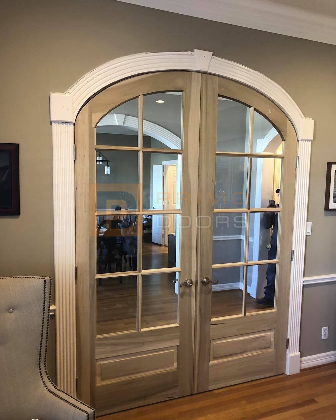 Double Interior French Doors with Clear Glass