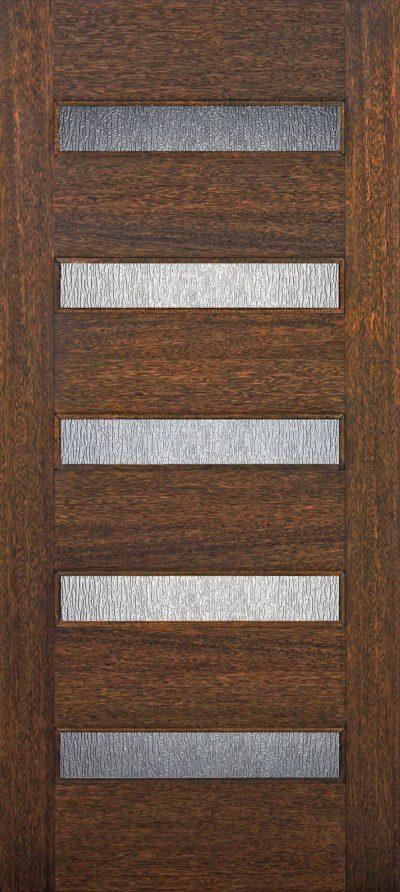 6′ 8″ 4 Lite Mahogany Wood Barn Door with Glass Options – 3-0x6-8_Mahogany_5_Lite_Horizontal
