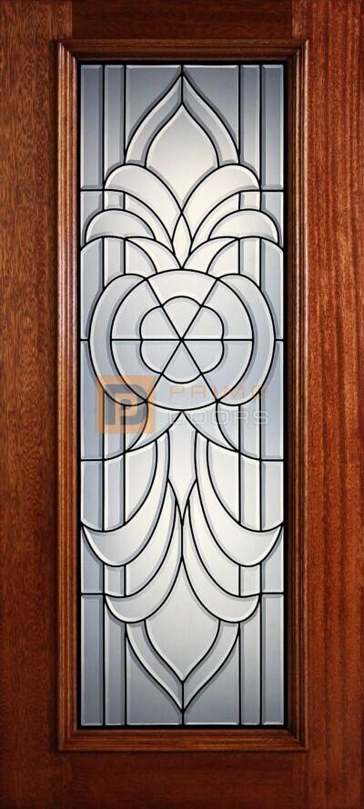 6′ 8″ Full Lite Princeton Mahogany Wood Front Door with Iron Grill – 3-0x6-8_Mahogany_Full_Lite_Princeton