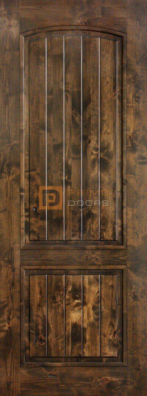 8' Knotty Alder Arch Top Solid Wood Barn Door – 3-0x8-0_Knotty_Alder_ 2_Panel_Arch