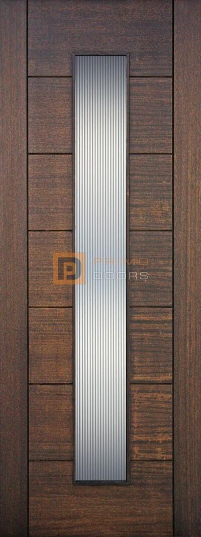 6′ 8″ Mahogany 1 Lite Vertical Reeded Solid Wood Barn Door – 3-0x8-0_Mahogany_1_Lite_Vertical_Reeded