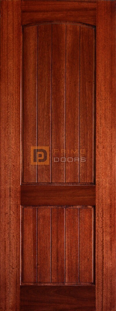 6′ 8″ Mahogany 2 Panel Arched V-Groove Solid Wood Barn Door – 3-0x8-0_Mahogany_2_Panel_Arch_V-Groove