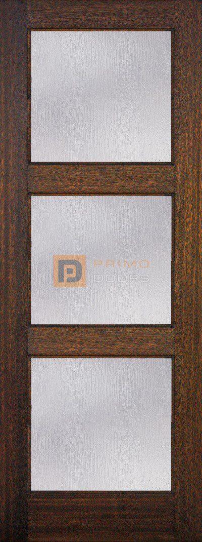 6′ 8″ Mahogany 3 Lite Solid Wood Barn Door – 3-0x8-0_Mahogany_3_Lite