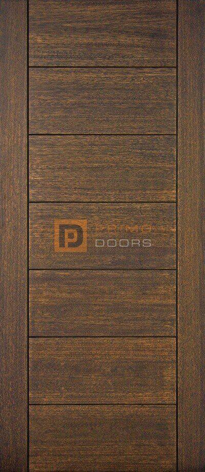 "6' 8"" Mahogany Wood Door - 7 Solid Panel Scaled - PD 3068-7PS"