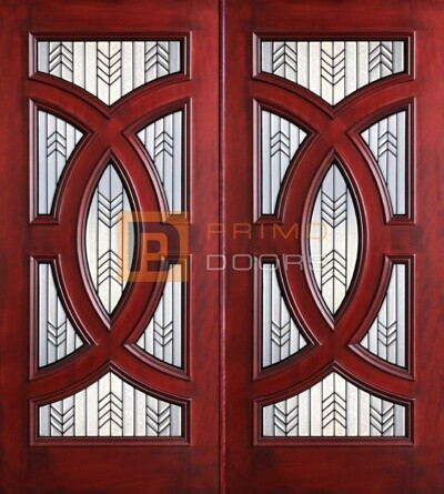 6-8 Cosmopolitian double doors with T PD8025-24 CB & GCB