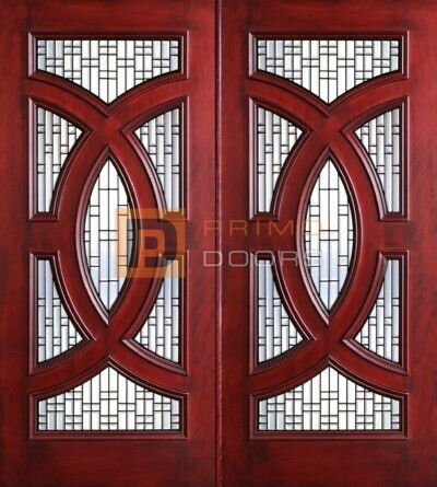 6-8 Cosmopolitian double doors with T PD8025-25 CB & GCB
