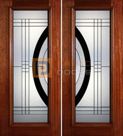 6-8 full lite double doors PD39