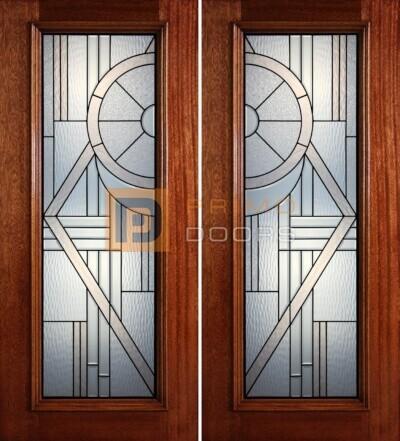6-8 full lite double doors PD40