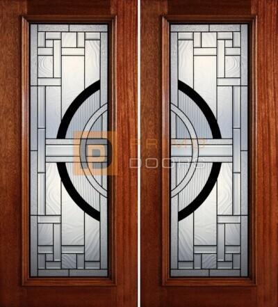 6-8 full lite double doors PD401