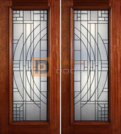 6-8 full lite double doors PD402