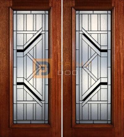 6-8 full lite double doors PD403