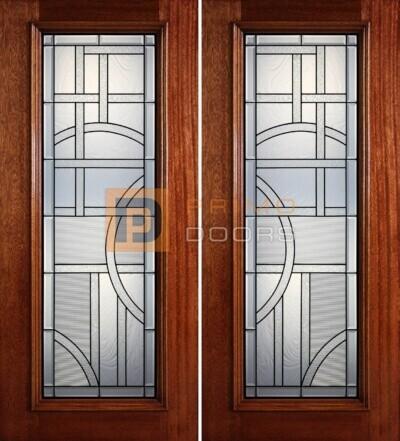 6-8 full lite double doors PD405