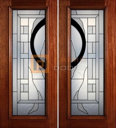 6-8 full lite double doors PD407