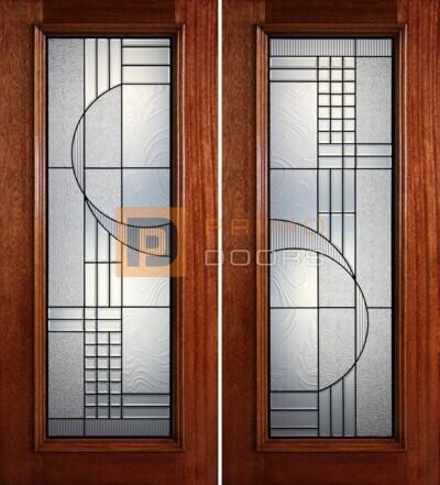 6-8 full lite double doors PD408