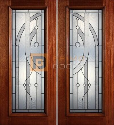 6-8 full lite double doors PD409