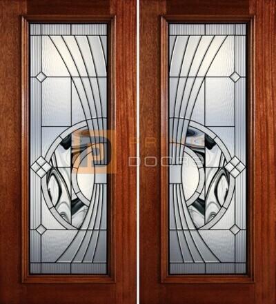 6-8 full lite double doors PD41