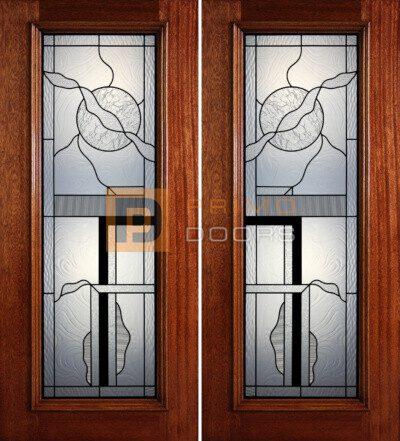 6-8 full lite double doors PD412