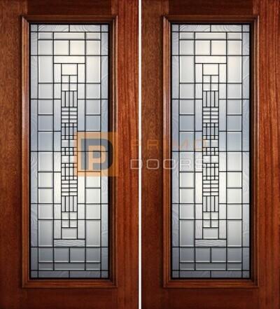 6-8 full lite double doors PD415