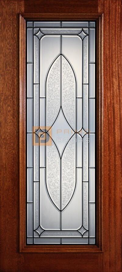 6′ 8″ Full Lite Mahogany Wood Front Door – PD 3068-FL DART