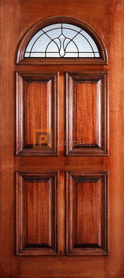 """6' 8"""" Fan Lite Mahogany Wood Door - PD 3068F AVAL"""