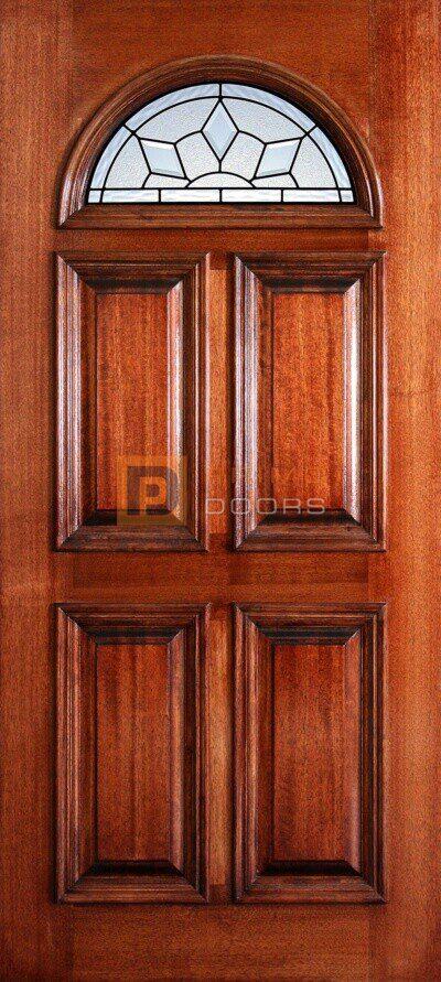 """6' 8"""" Fan Lite Mahogany Wood Door - PD 3068F ROYA"""